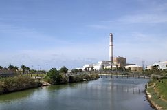 Reading Power Station on the River Yarkon, Tel Aviv Royalty Free Stock Photography