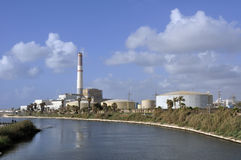 The Reading Power Station in Tel-Aviv. The Reading Power Station, built in 1938, located in the northwestern part of Tel-Aviv at the mouth of the Yarkon river Stock Photo