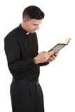 Reading preist Stock Photo