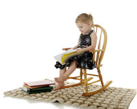 Reading Preschooler Royalty Free Stock Photography