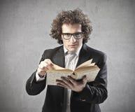 Reading Professor stock photo