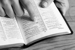 Reading Psalm Royalty Free Stock Photography