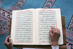 Reading the Quran Stock Photography