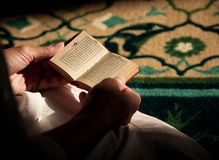 Reading the Quran Royalty Free Stock Images