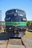 Reading Railroad locomotive, Scranton, PA, USA. Reading Railroad RDG 902 and 903 are a EMD FP7A diesel locomotives in Steamtown National Historic Site in stock images