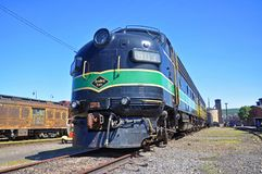 Reading Railroad locomotive, Scranton, PA, USA. Reading Railroad RDG 902 and 903 are a EMD FP7A diesel locomotives in Steamtown National Historic Site in royalty free stock photography