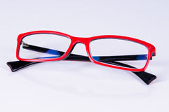 Reading red glasses Stock Photo