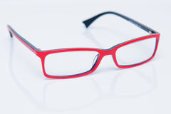 Reading red glasses Royalty Free Stock Photos