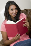 Reading and Relaxing Royalty Free Stock Photo