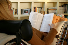Reading and relaxing Stock Image