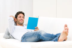 Reading and relaxing stock photos