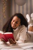 Reading romance novel Stock Photos