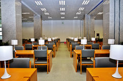 Reading room. Empty library reading room ,wuhan city,hubei province ,china Royalty Free Stock Photos