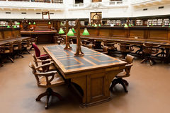 Reading room desk Royalty Free Stock Images