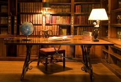 Reading Room In Old Library. Royalty Free Stock Photos