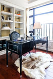 Modern reading room home office furniture Royalty Free Stock Photos