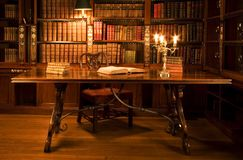 Reading room in old library. Stock Image