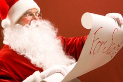 Reading Santa Stock Photos