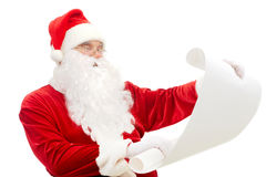Reading Santa Royalty Free Stock Photo