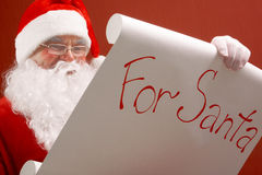Reading Santa Royalty Free Stock Images