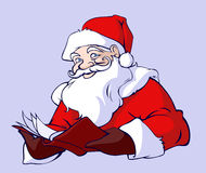 Reading Santa Stock Photo