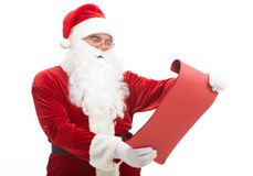Reading Santa Royalty Free Stock Photography
