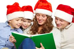Reading Santas Stock Photography