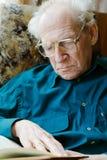 Reading Senior Man Royalty Free Stock Photography