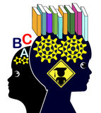 Reading Skills and Brain Development Royalty Free Stock Photos