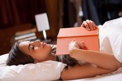 Reading before sleep. Stock Image