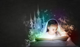 Reading before sleep Stock Photography