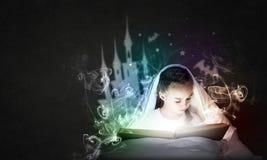Reading before sleep Royalty Free Stock Photo