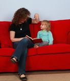 Reading small young girl woman Royalty Free Stock Photo