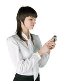 Reading SMS Stock Photography