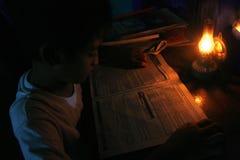 Reading something Stock Photography