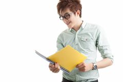Reading student Stock Photo