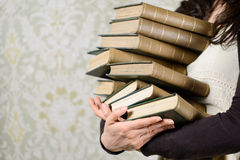 Old books reading concept Royalty Free Stock Photos