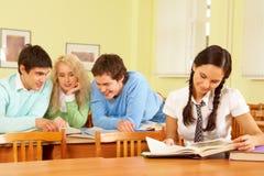 Reading students Stock Photo