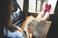 Reading Study Camping Car Hobby Concept royalty free stock photography