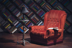 Reading at sweet home Royalty Free Stock Images