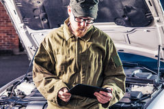 Reading Tablet Stock Photography