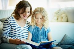 Reading tales Royalty Free Stock Images