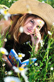 Reading teen girl Stock Photography