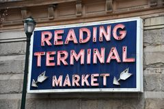 Free Reading Terminal Market Neon Royalty Free Stock Photography - 168176877