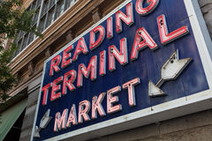 Reading Terminal Market sign, Philadelphia, Pennsylvania Royalty Free Stock Photography