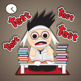 Reading test preparation Stock Photography