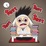 Reading test preparation. Vector : Reading test preparation  cartoon design 2015 Stock Photography