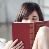 Reading The Book Royalty Free Stock Image
