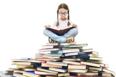 Reading time royalty free stock images
