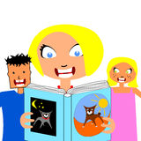 Reading to your children Royalty Free Stock Images